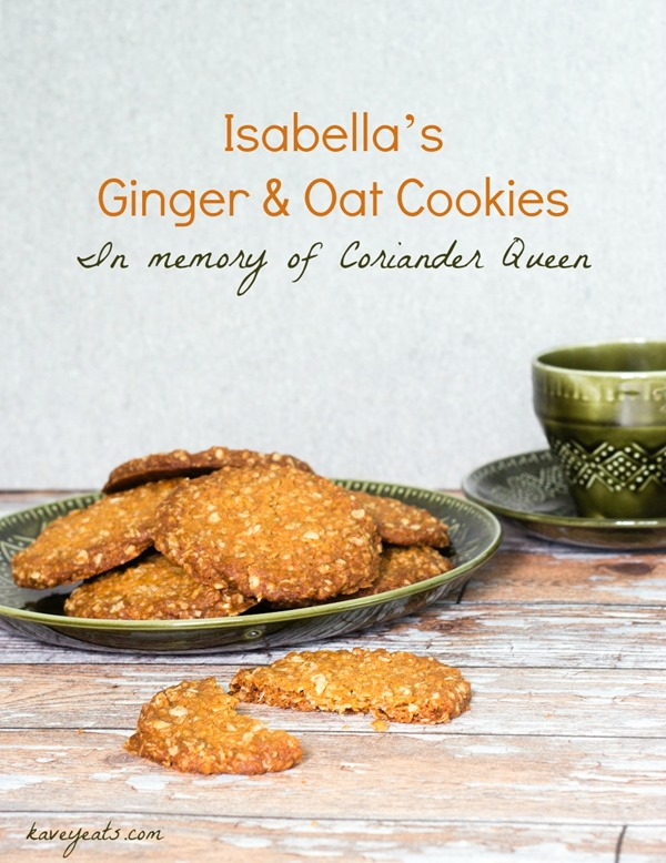 Isabellas Ginger and Oat Cookies on Kavey Eats (c) KFavelle (2)