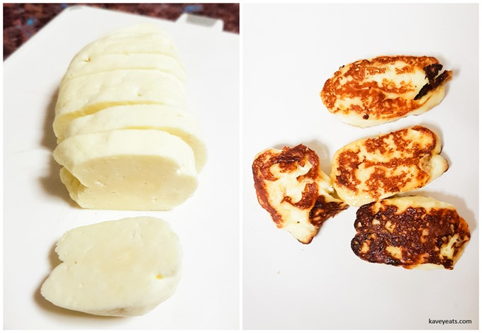 homemade halloumi collage