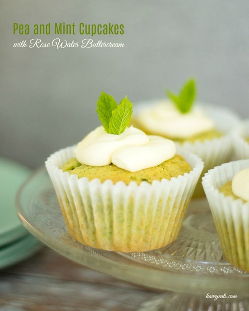 Pea and Mint Cupcakes with Rose Water Buttercream on Kavey Eats (4)