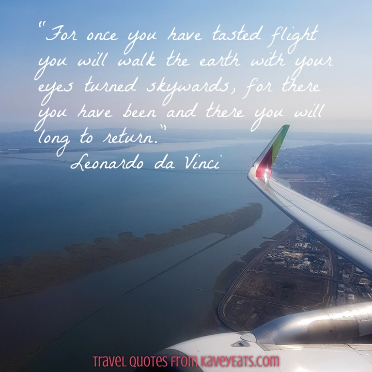 Travel Quote Tuesday Once You Have Tasted Flight Kavey Eats Simple Flight Quotes