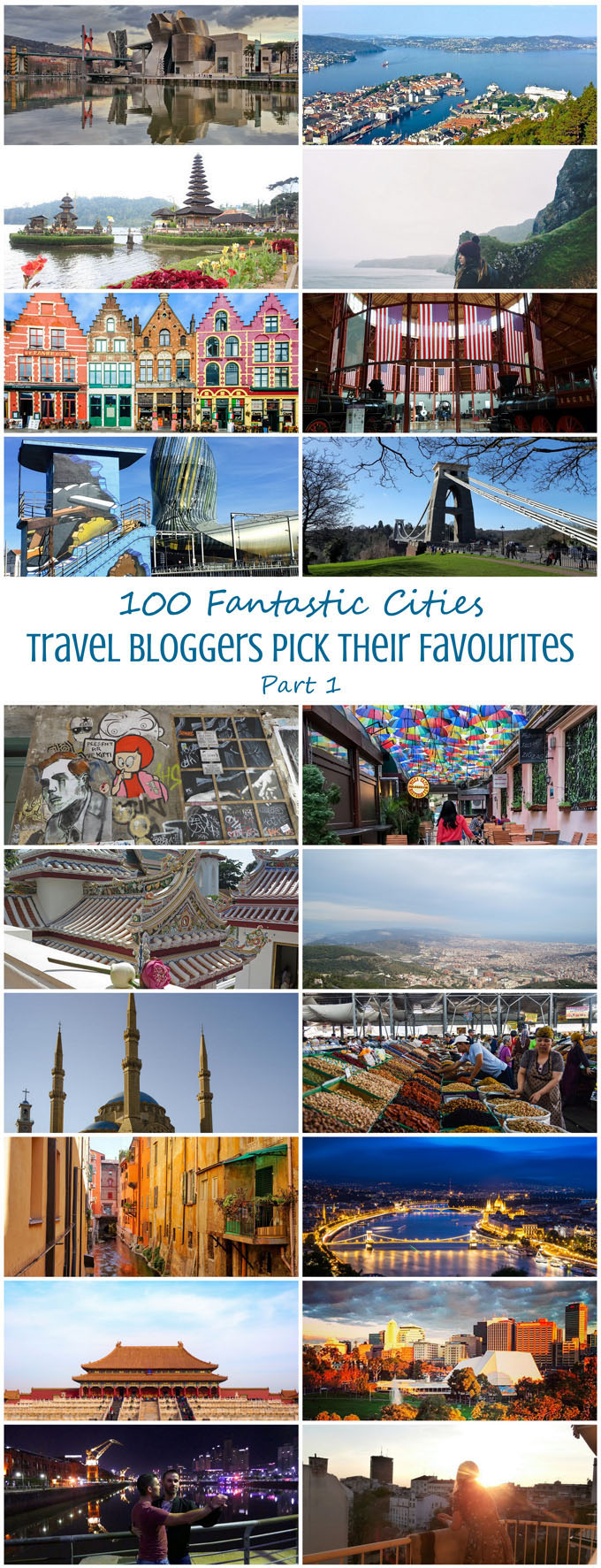 100 Fantastic Cities for City Breaks, as chosen by travel bloggers (part 1)