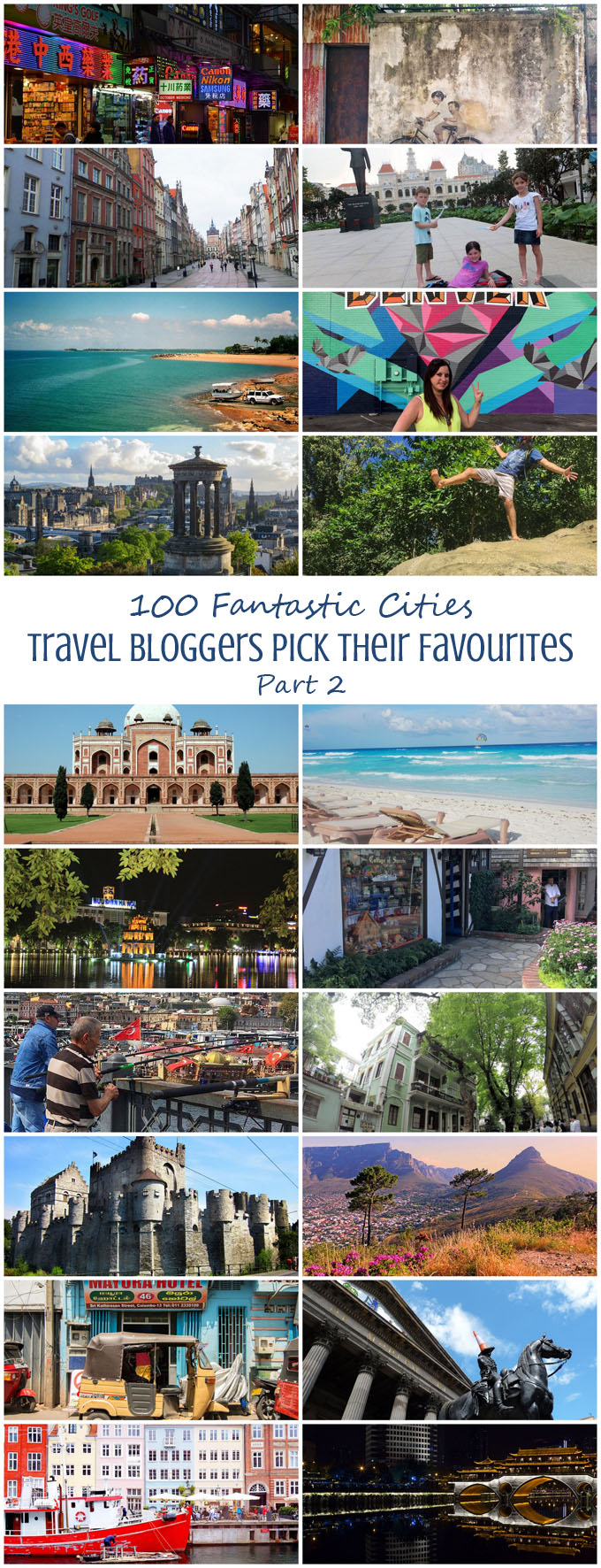 100 Fantastic Cities for City Breaks, as chosen by travel bloggers (part 2)