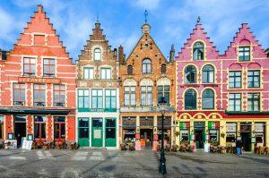 Old houses in Bruges