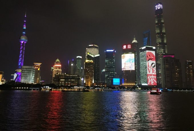 Shanghai night skyline - 100 Fantastic Cities for City Breaks, as chosen by travel bloggers (part 5)
