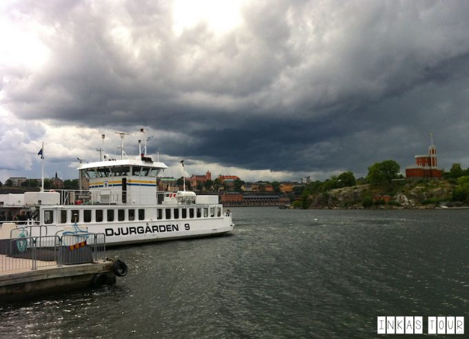Stockholm ferry on the water, city behind - 100 Fantastic Cities for City Breaks, as chosen by travel bloggers (part 5)