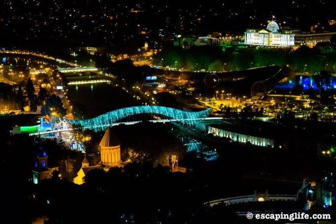 Tbilisi city view at night from above - 100 Fantastic Cities for City Breaks, as chosen by travel bloggers (part 5)