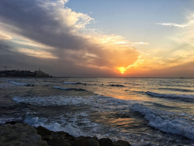 Tel Aviv beach sunset - 100 Fantastic Cities for City Breaks, as chosen by travel bloggers (part 5)