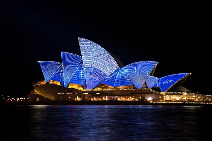 Sydney Opera House at night - 100 Fantastic Cities for City Breaks, as chosen by travel bloggers (part 5)