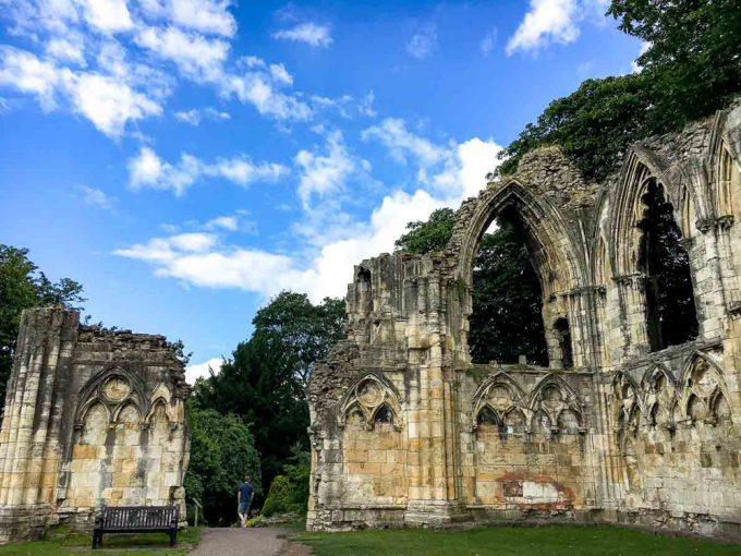 Ruins in York, England, with blue sky above - 100 Fantastic Cities for City Breaks, as chosen by travel bloggers (part 5)