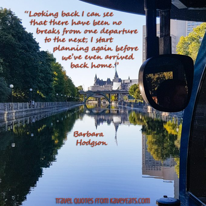The Rideau Canal in Ottawa, and quote overlay text