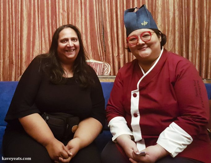 Chef Ji Young Kim of Balwoo Gongyang Buddhist temple restaurnt in Seoul, and Kavita Favelle from Kavey Eats The World