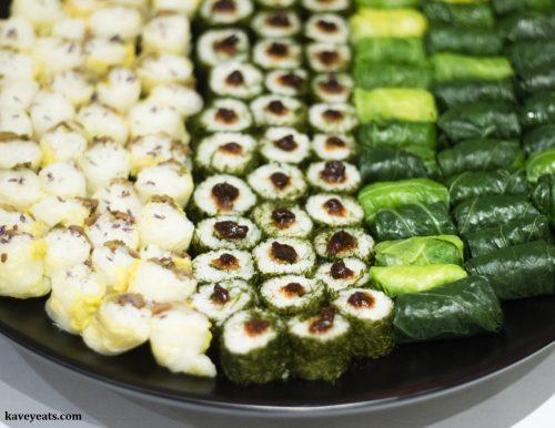 Korean Temple Food - Seasonal Leaf Wraps and Rice