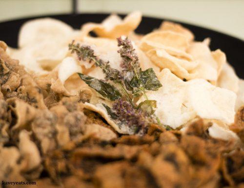 Korean Temple Food - Bugak (Ginseng-Korean Mint-Purple Perilla Chips)