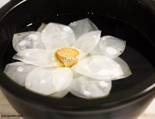 Korean Temple Food - Lotus Flower Tea