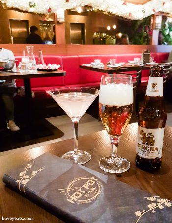 Drinks in Hot Pot Restaurant China Town London on Kavey Eats