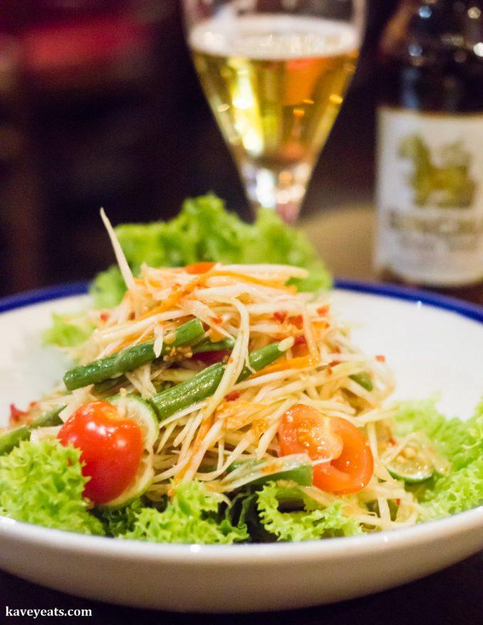 Som Tum Thai Papaya Salad at Hot Pot Restaurant China Town London on Kavey Eats