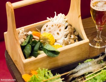 Vegetable Set of Ingredients at Hot Pot Restaurant China Town London on Kavey Eats
