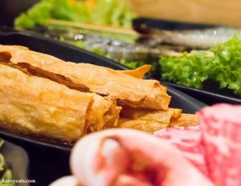 Fried Tofu Skins at Hot Pot Restaurant China Town London on Kavey Eats