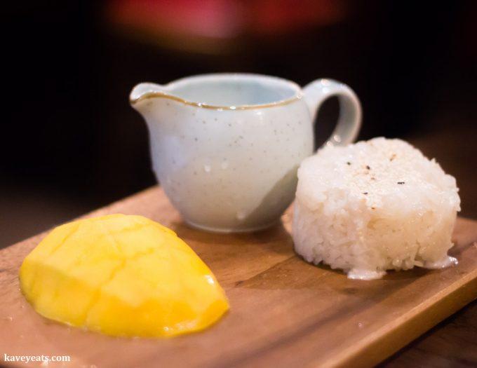 Mango Sticky Coconut Rice at Hot Pot Restaurant China Town London on Kavey Eats