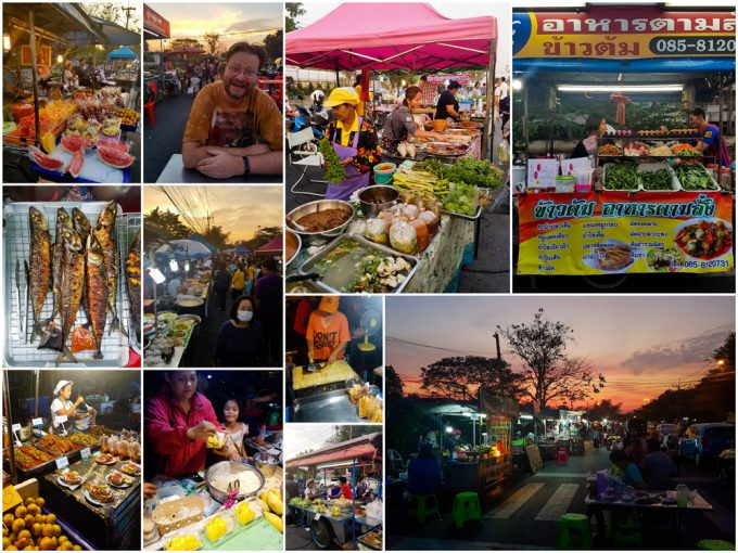 Enjoying Street Food at Bang Lan Night Market in Ayutthaya, Thailand