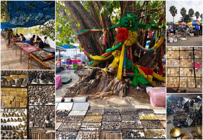 Hua Ro Amulet Market in Ayutthaya, Thailand