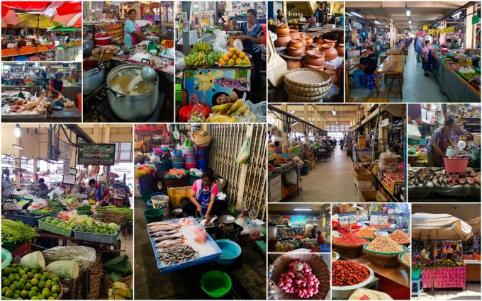 Hua Ro Food Market in Ayutthaya, Thailand