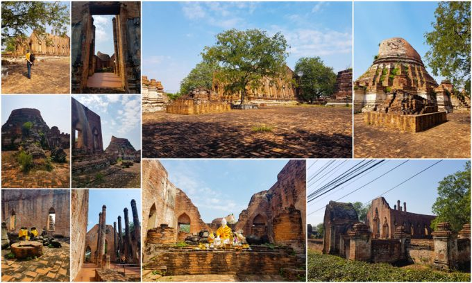 The Ruins of Wat Kudi Dao Temple in Ayutthaya, Thailand