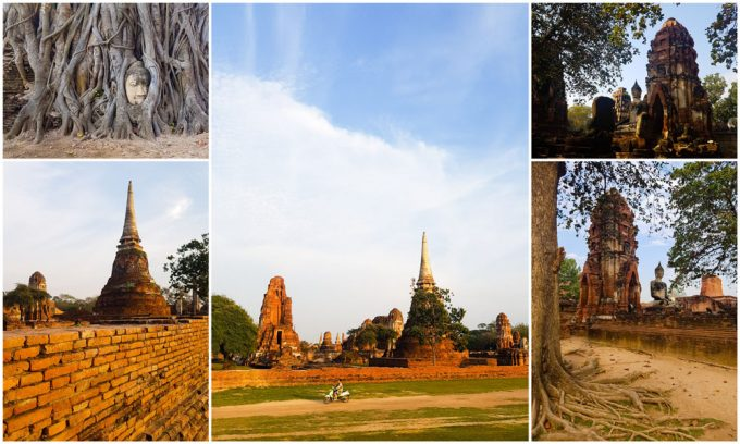 The Ruins of Wat Mahathat Temple in Ayutthaya, Thailand