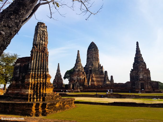 The ruins of Wat Chai Wattanaram temple in Ayutthaya, Thailand