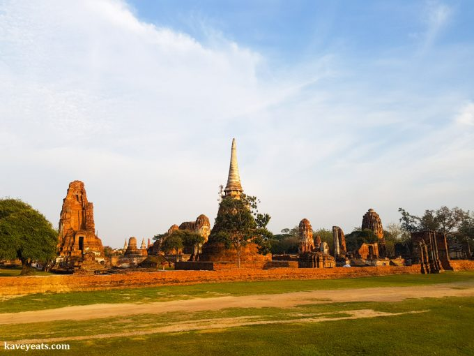 Historical Temple Ruins in Ayutthaya, Thailand