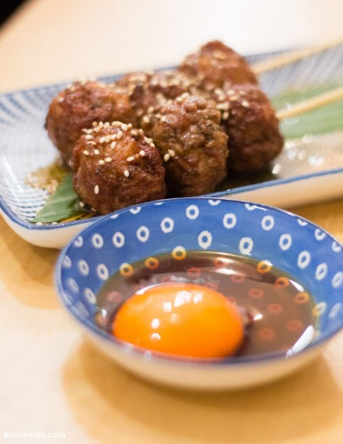 Tsukune at Machiya Japanese Restaurant in London, a review on Kavey Eats
