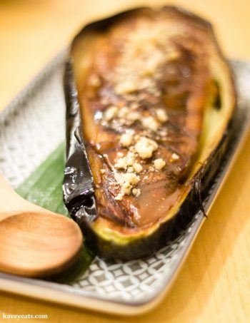 Miso Aubergine at Machiya Japanese Restaurant in London, a review on Kavey Eats