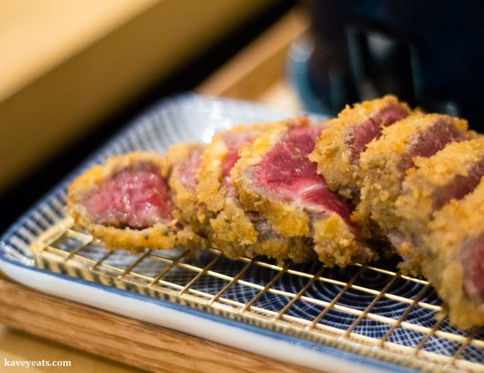 Wagyu Katsu at Machiya Japanese Restaurant in London, a review on Kavey Eats