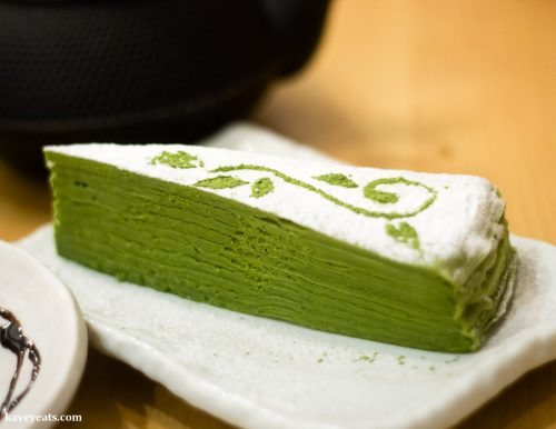 Matcha Crepe Cake at Machiya Japanese Restaurant in London, a review on Kavey Eats