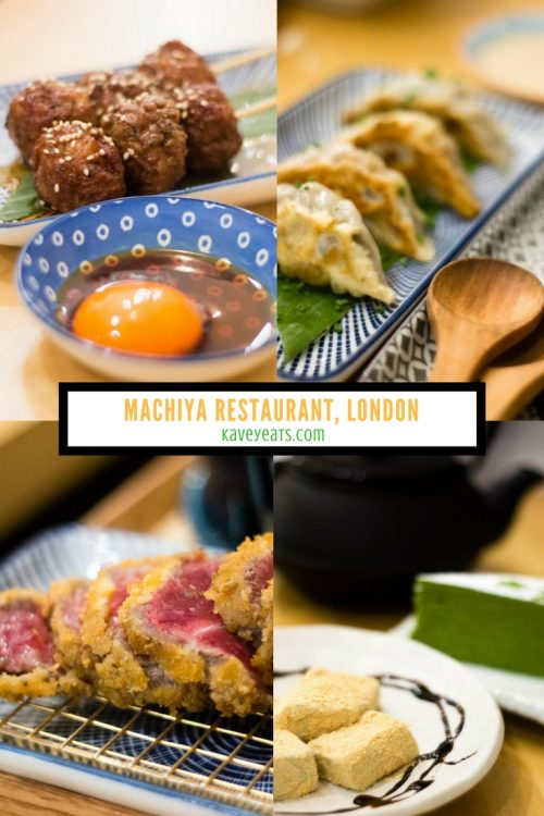 Machiya Japanese Restaurant in London, a review on Kavey Eats