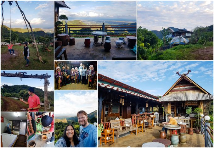 Busaw homestay, our accommodation during a two day visit to the Akha Hill Tribe of Thailand's Doi Pha Mee, on Kavey Eats