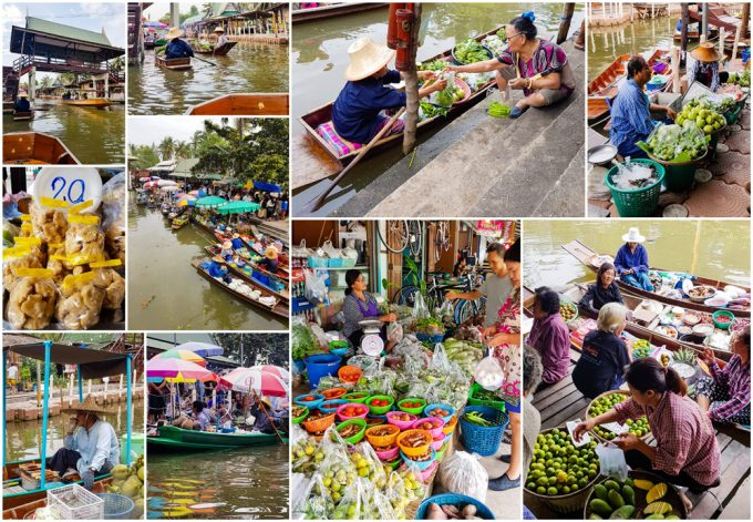 Hot Food Vendors at Tha Kha Floating Market, near Bangkok, Thailand