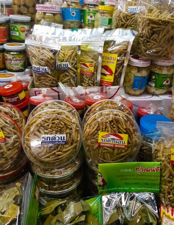 Insect snacks bamboo worms - The best souvenirs to buy in Thailand