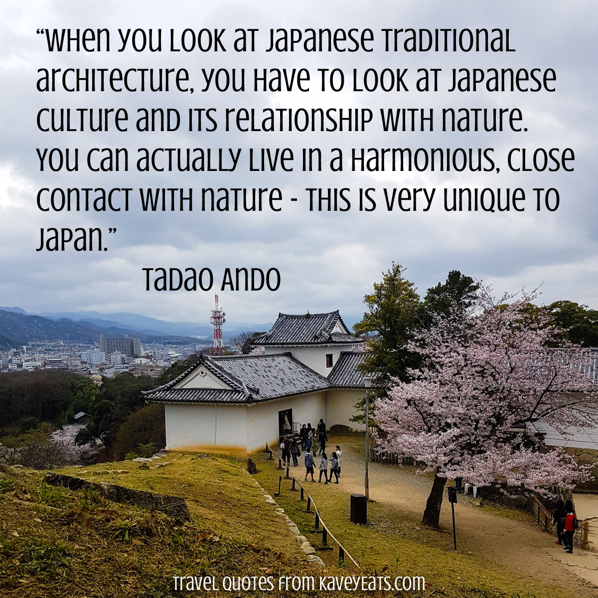 """When you look at Japanese traditional architecture, you have to look at Japanese culture and its relationship with nature. You can actually live in a harmonious, close contact with nature – this is very unique to Japan."" Tadao Ando"