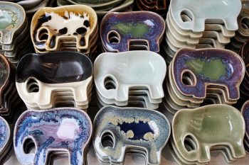 Ceramic elephant dishes - The best souvenirs to buy in Thailand