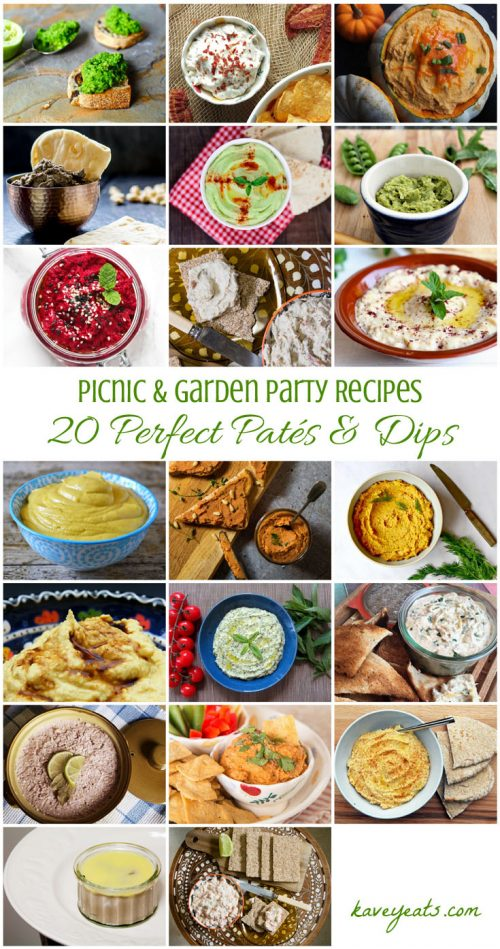 20 Perfect Paté & Dip Recipes that are perfect for picnics or garden parties