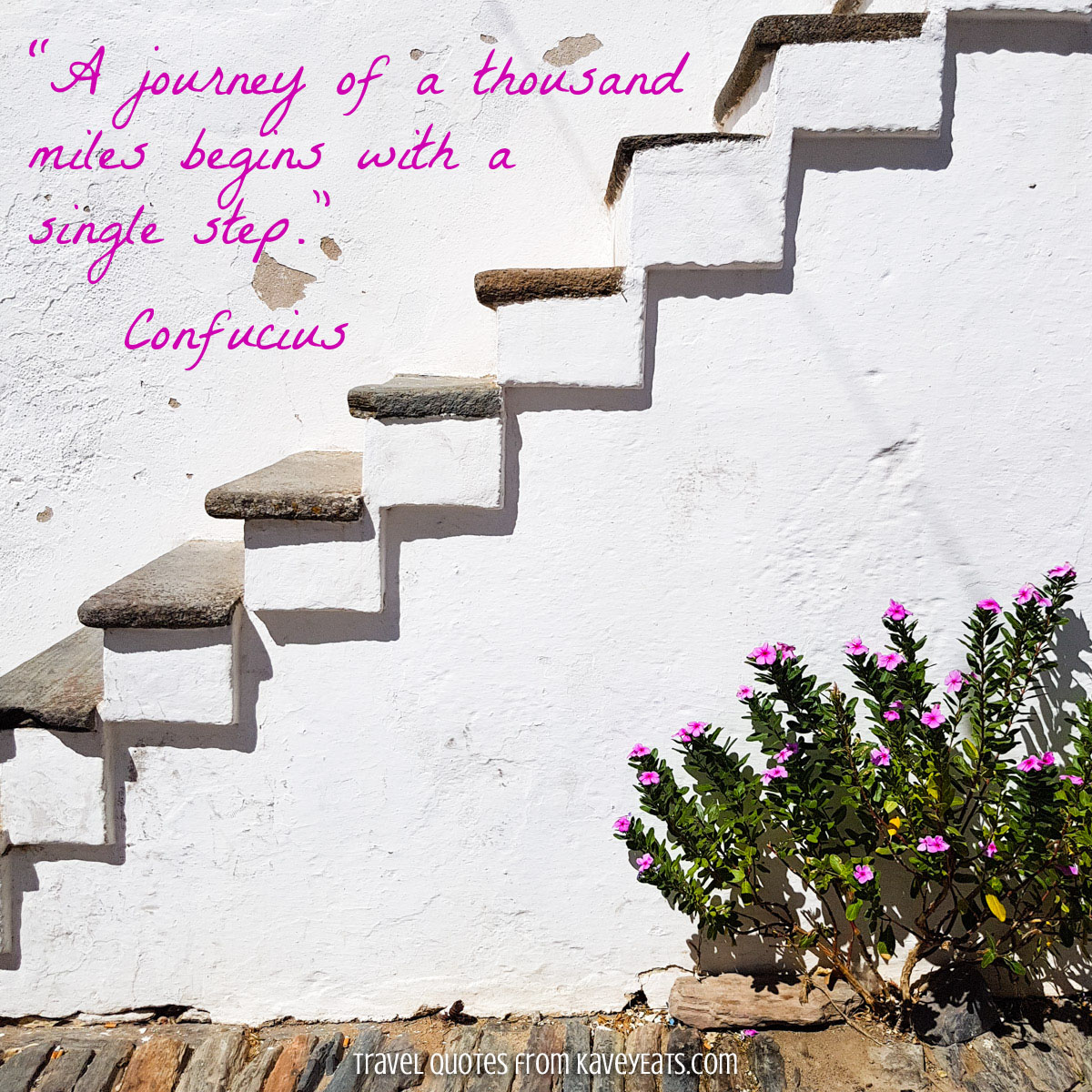 """A journey of a thousand miles begins with a single step."" Confucius"