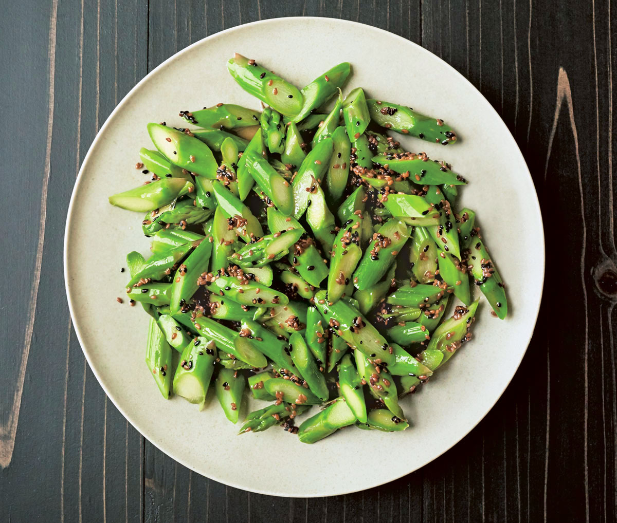 how to cook asparagus in a pan with soy sauce