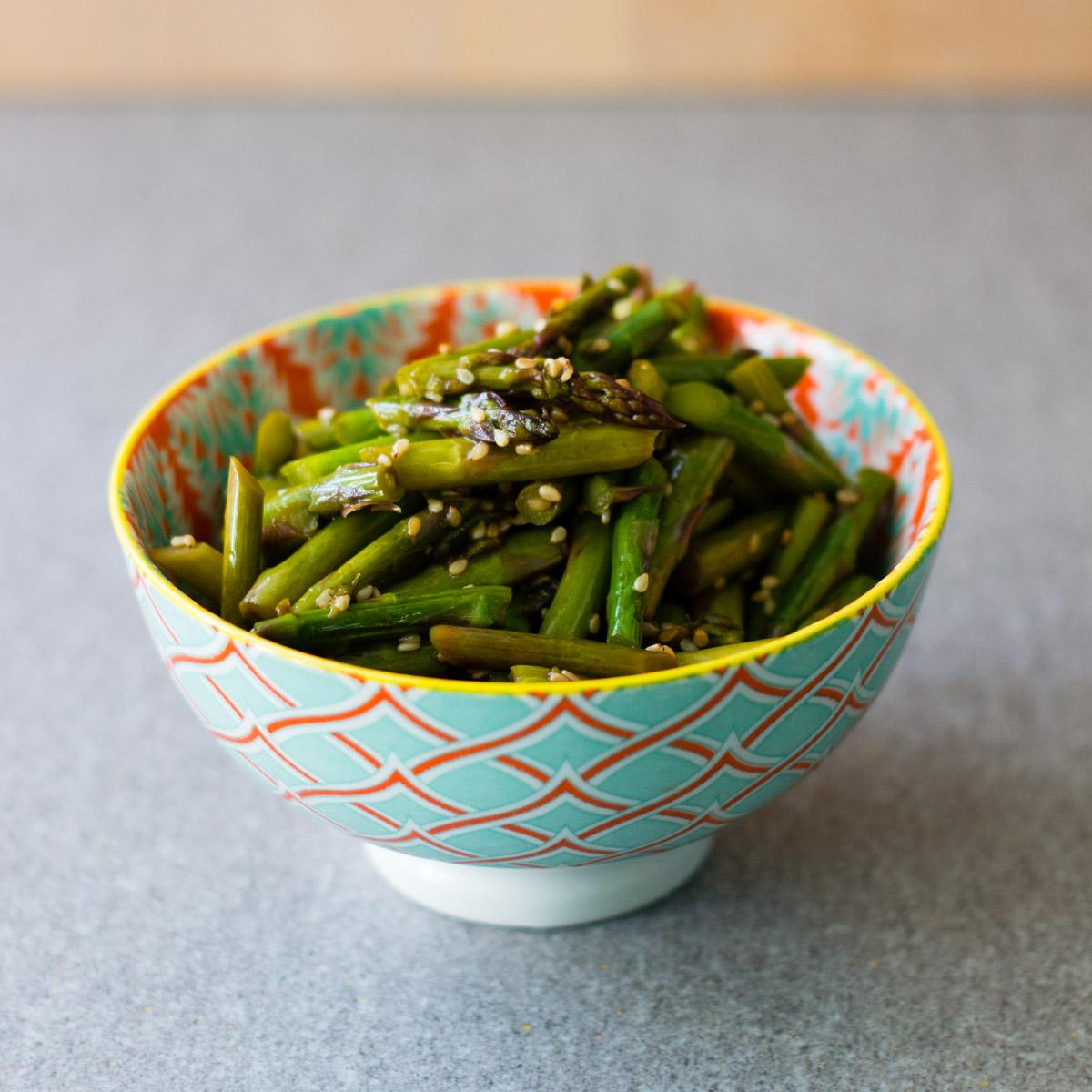 Asparagus with Sesame-Vinegar Dressing from Japan: The Cookbook by Nancy Singleton Hachisu