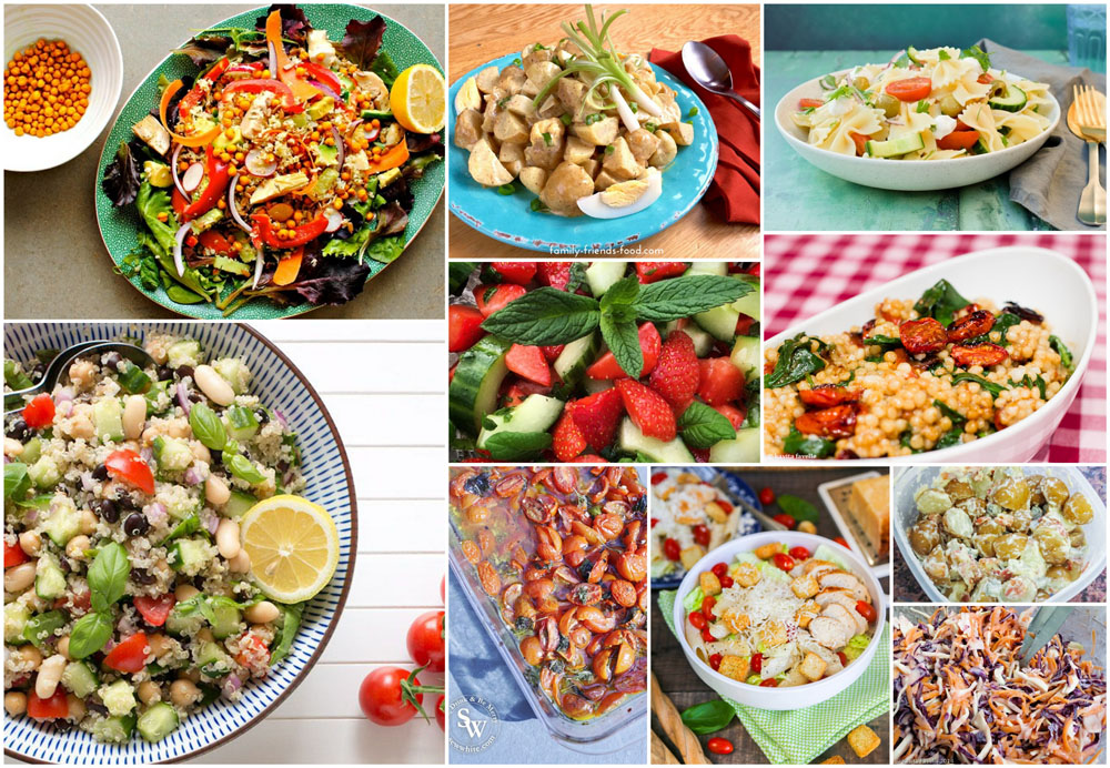 10 Scrumtious Salad Recipes that are perfect for picnics or garden parties