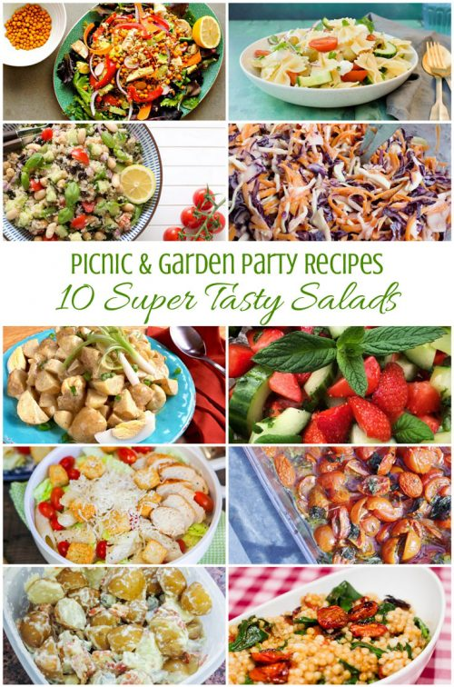 10 Super Tasty Salad Recipes that are perfect for picnics or garden parties