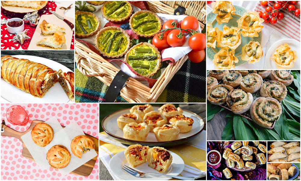 Picnic Recipes | 11 Pastries, Pies, Plaits, Quiches, Tarts & Rolls