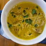 Recipe for Chiang Mai Curried Noodle Soup with Chicken (Khao Soi Gai)