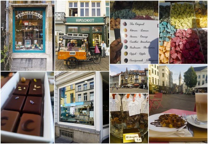 Sweet Treats including Chocolates, Waffles and Cuberdons - All-In-One Guide to Visiting Ghent, Belgium on Kavev Eats