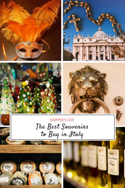 The Best Souvenirs to buy in Italy - from Venetian Masks and Glass to Italian Wine, Cheese and Pasta to Ceramics and Religious Artifacts